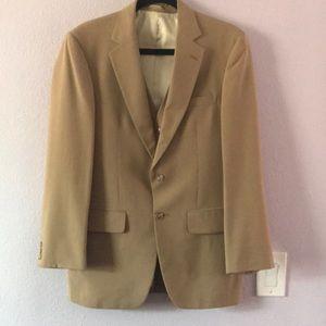 Vintage light tan wool jacket